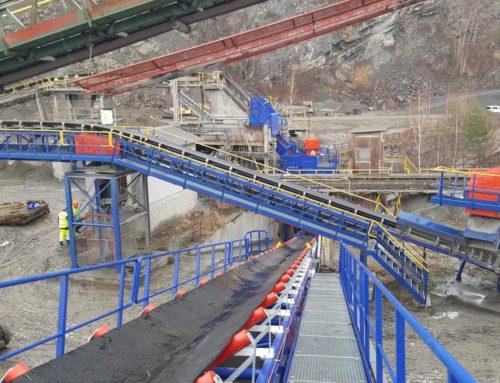 Rekonstrukce technologické linky na kótě 350 v kamenolomu JAKUBČOVICE