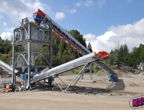 Instalace semimobilního zařízení pro snížení podílu odplavitelných částic ve frakci 0-4 mm suchou cestou v kamenolomu BYSTŘEC